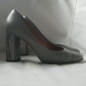 Salvatore Ferragamo Ninfea 85 Lucite block heel